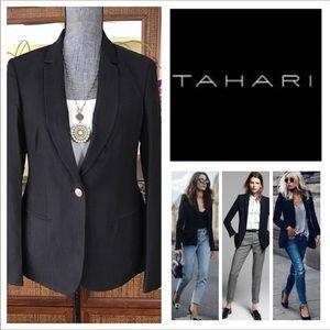 Tahari One-Button Black Blazer.  NWT.